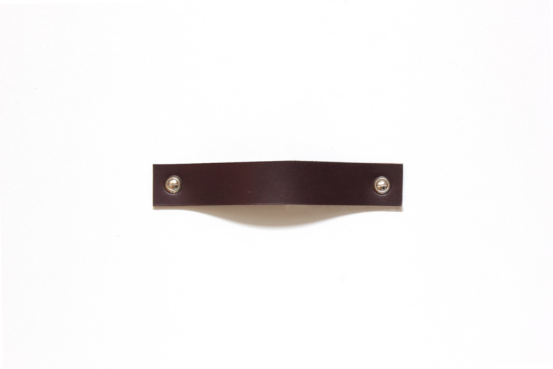 Leather handle standard, dark brown