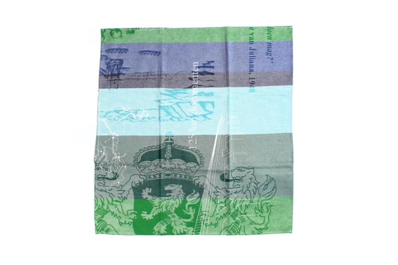 Theedoek Nationaal Archief, blauw groene reeks