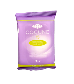 Cocune verfrissende mini doekjes (5 pakjes van 15 stuks) | Handig voor onderweg!