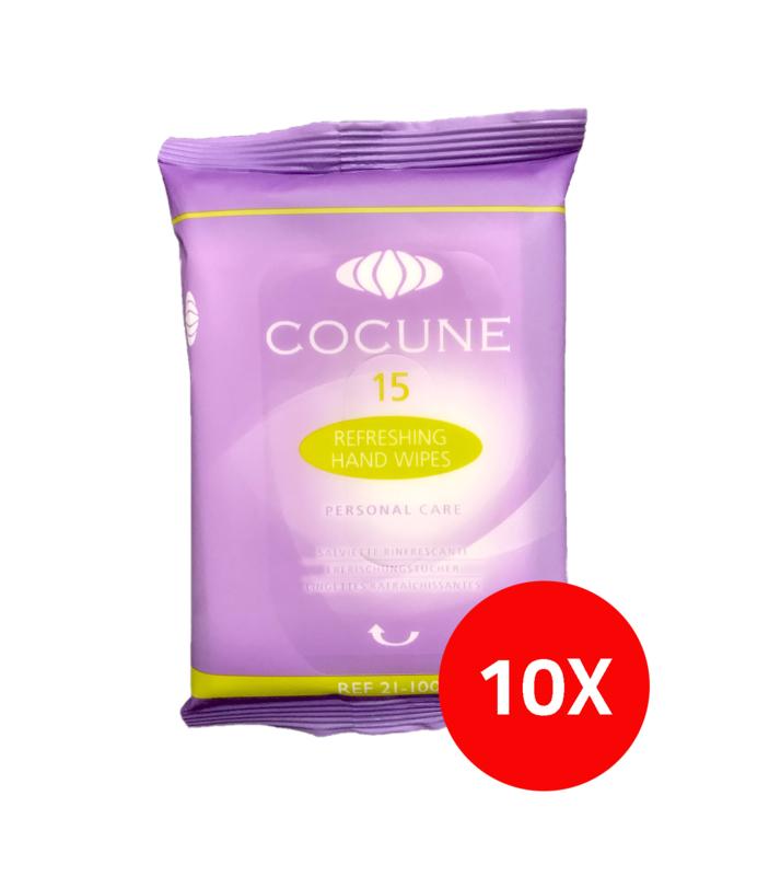 Cocune verfrissende mini doekjes (10 pakjes van 15 stuks)