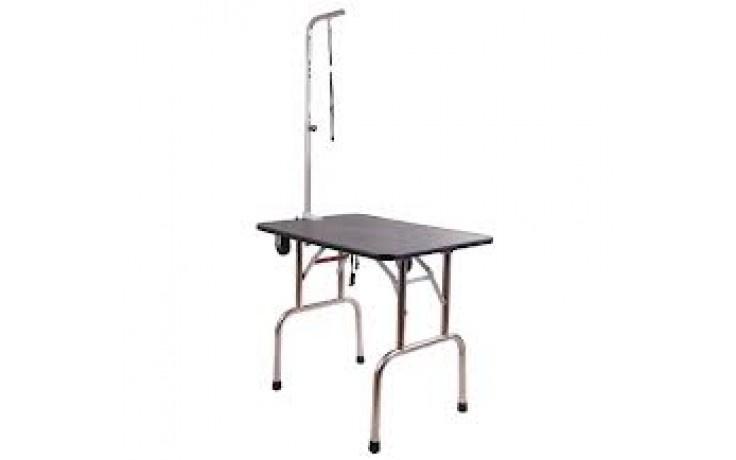 HQ trim/show tafel compleet 91x61cm inklapbaar met wielen