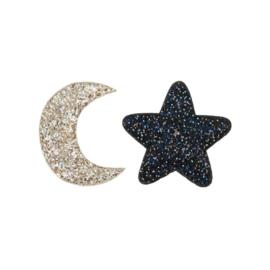 Midnight glitter clips, mimi & Lula
