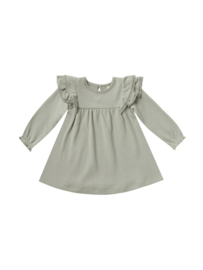 Longsleeve flutter dress Sage, Quincy Mae