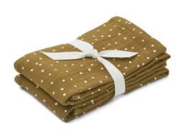 Lewis muslin clotch, 2 pack Confetti olive, Liewood