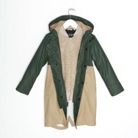 Jas 3 in 1 raincoat forest green Teddy, Gosoaky