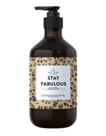 Stay Fabulous handlotion, Giftlabel