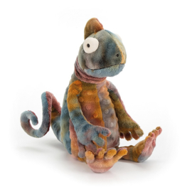 Collin Chameleon zittend, Jellycat