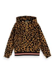 Oversized Leopard hoody, scotch R' belle