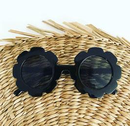 Flower zonnenbril black, feestbeest