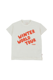 Winter world tour tee, off white/red