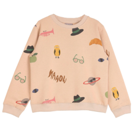 Sweater with allover print, Emil et Ida