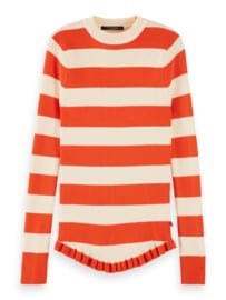 Crewneck pull stripe , Scotch R'belle