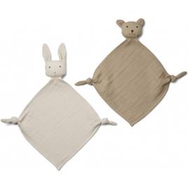 Yoko cuddle cloth  sandy stone mini 2 pack, Liewood