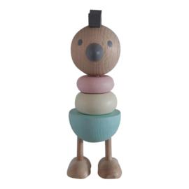 Houten stapelbare Kip pastel, Kidsboetiek