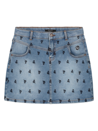 Snake denim skirt, Nik&Nik