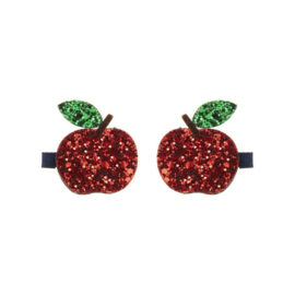 Glitter apples clips red, Mimi & Lula