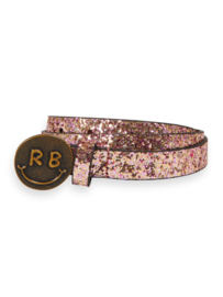 Glitter belt with smiley buckle, Scotch R'belle