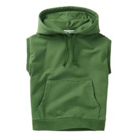 Sleeveless Hoodie Moss green, Mingo