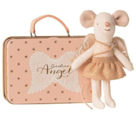 Gardian Angel mouse in a suitcase, Maileg