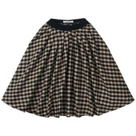 Flanel checked Midi Skirt, Mingo