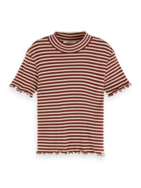 Tshirt ss with high neck, Scotch R'belle
