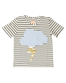 T-shirt Storm striped, Wauw Capow