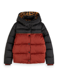 Padded jacket colorblock, Scotch R'belle