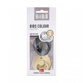 2 pack Bibs spenen T1  beige/iron