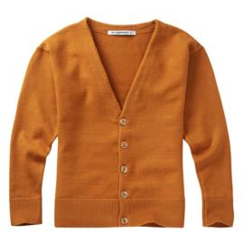 Soft knit cardigan light ochre, Mingo