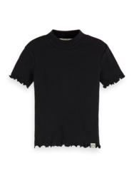 Fitted SS T-shirt with high neck , Scotch R' belle