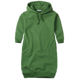 Sweater dress Hoodie Moss green, Mingo