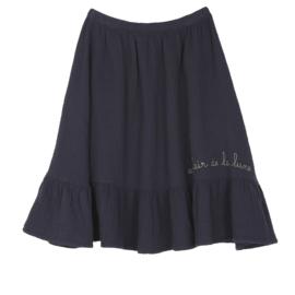 Creassed effect long skirt, Emil et Ida