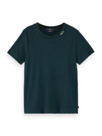 Basic T-shirt Lagoon Green, Scotch R'Belle