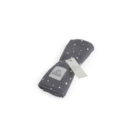 Swaddle 120 x120 dot grey, Nanami
