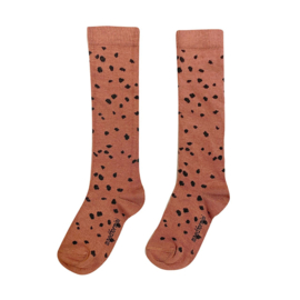 Brown sahara leopard kneesocks, Maed for Mini