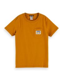 T-shirt with pocket organic, Scotch Shrunk