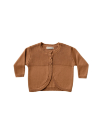 Knit Cardigan Walnut, Quincy Mae