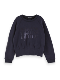 Crewneck sweat with special waist detail,Scotch R'belle