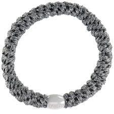 Haarelastiek Steel grey glitter, Bondep