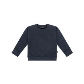 Crewneck sweater dark blue leopard, House of Jamie