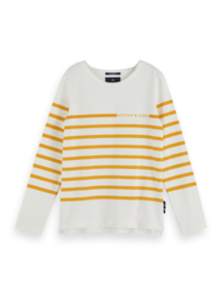 Longsleeve breton stripe,  Scotch Shrunk