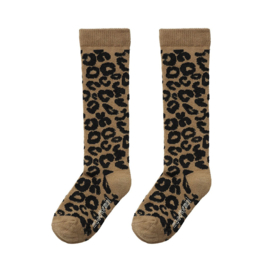 Brown Leopard kneesocks, Maed For Mini