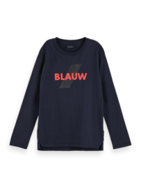 Longsleeve Blauw, Scotch Shrunk