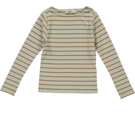 Longsleeve Theodora leather  stripes, MarMar Copenhagen