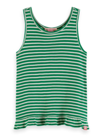 Tanktop stripes green, Scotch R'belle