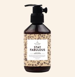 Stay Fabulous handzeep, Giftlabel