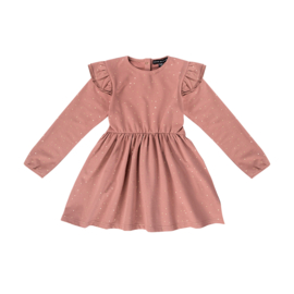 Dress dusty mauve golden dots , House of Jamie