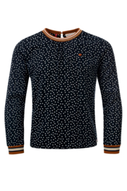 Longsleeve shirt dots navy, Looxs little
