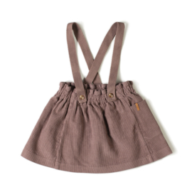 Strap skirt corduroy mauve, NixNut