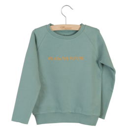 Sweater Caecilia print Chinois green, Little Hedonist